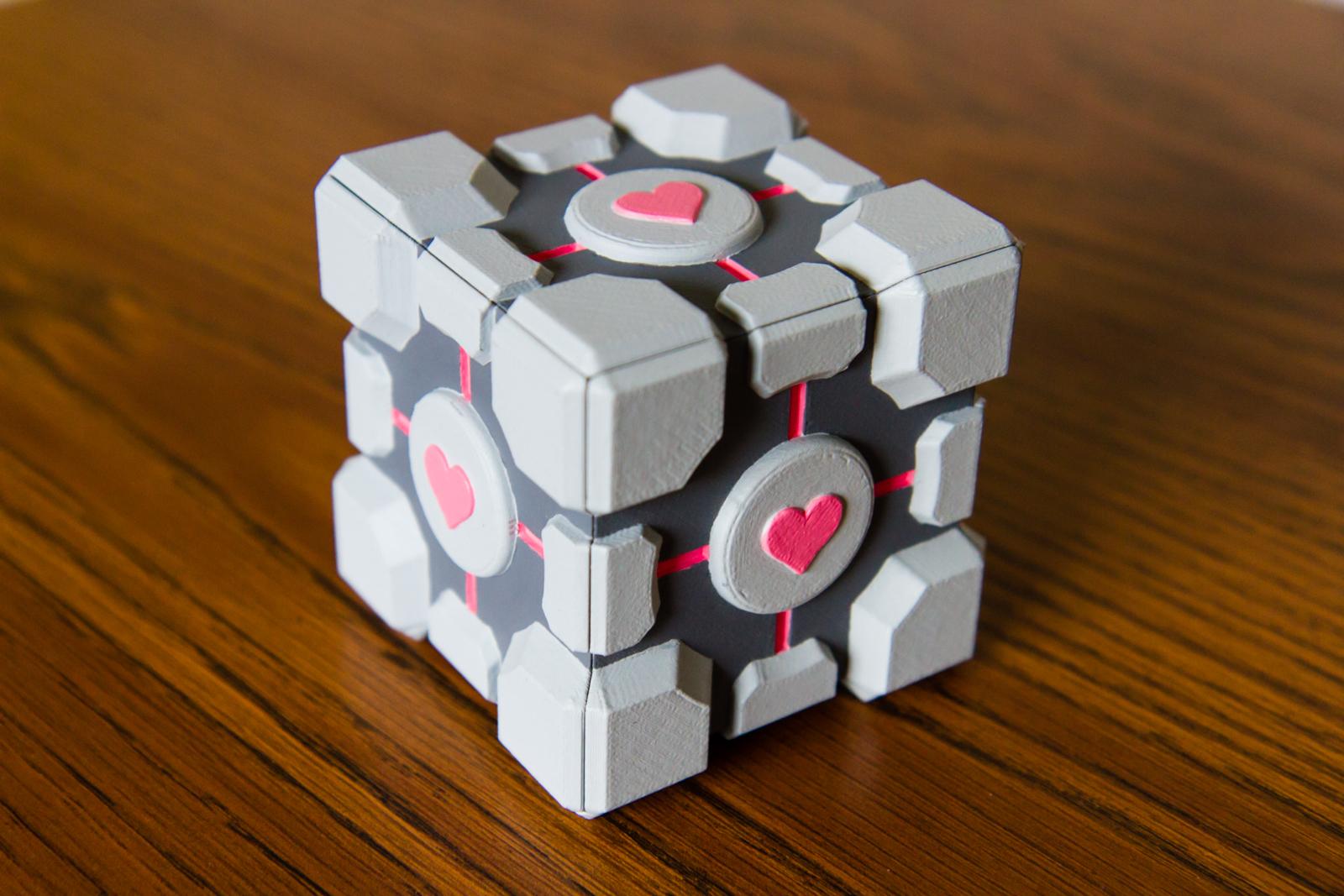 Paint And Primer >> 3D Printed Portal Companion Cube   0x7D.com