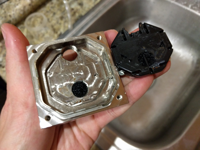 Clogged Waterblock (Top)