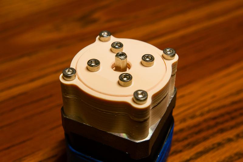 Step 7: Attach gearbox onto stepper motor