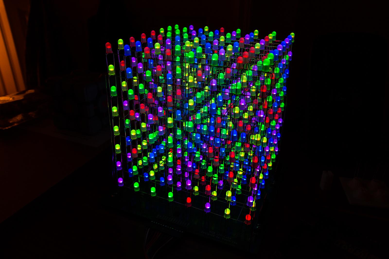 Светодиодный куб от и до своими руками