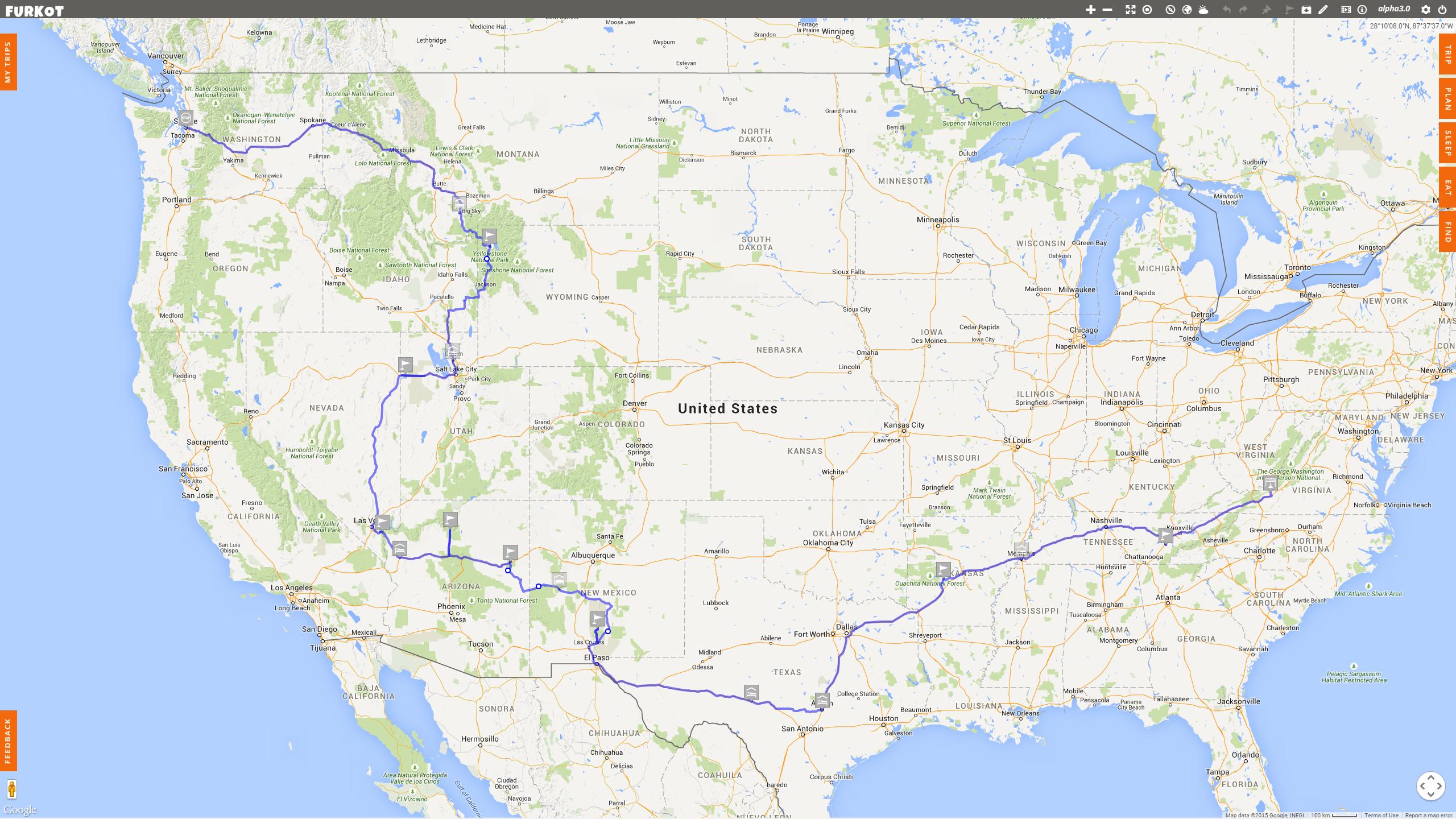 Roadtrip Map